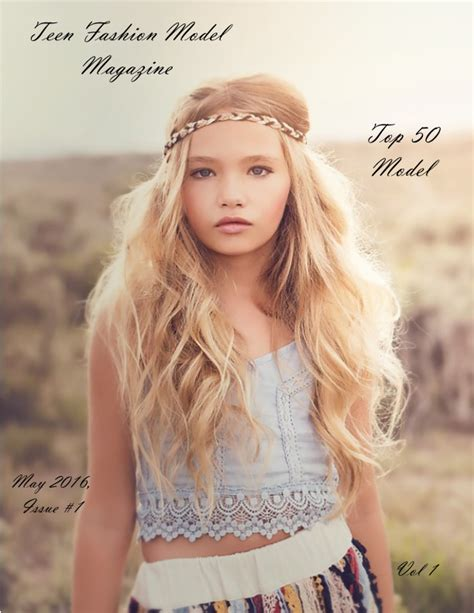 preteen magazine models images a la mode child teen model magazine by tasha walker