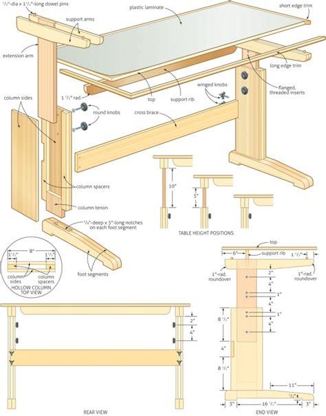 multi joint desk how to build knockdown furniture plans pdf plans
