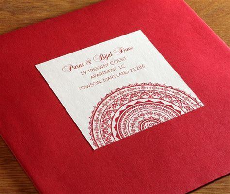 Colored envelopes with customized mandala address labels