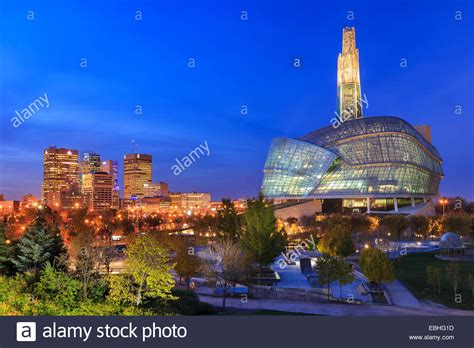 canadian museum for human rights at in downtown winnipeg stock photo royalty free image