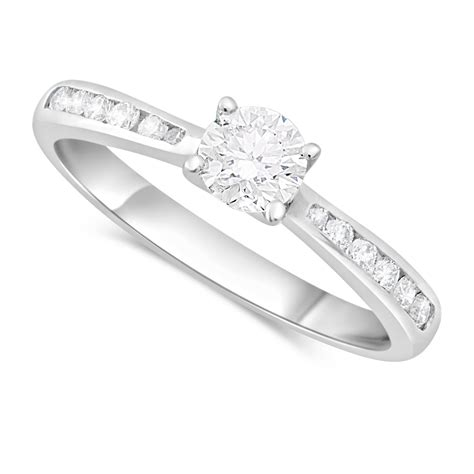 18ct white gold solitaire engagement ring fields ie