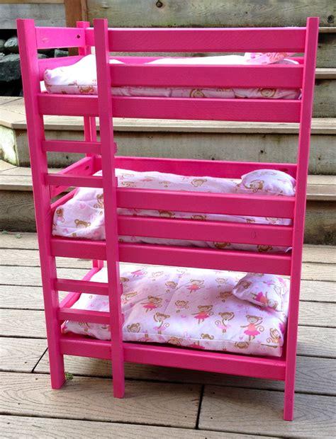 triple doll bunk bed ana white