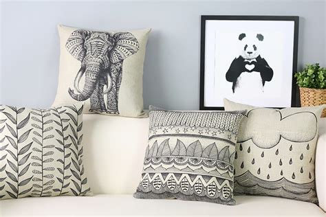 artistic pillows personalized painted elephant chair pillow modern