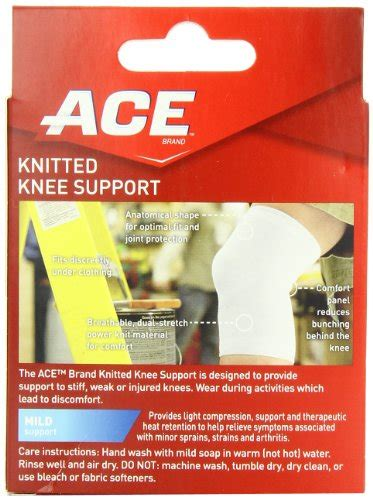 ace knitted knee support ace knitted knee support small pack of 2 051131203815