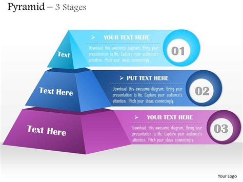 0614 Business Consulting Diagram 3 Staged Pyramid Design Powerpoint Slide Template Powerpoint Pyramid Powerpoint Template