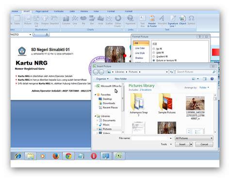panduan tutorial tutorial panduan ganti poto di aplikasi cetak kartu nrg