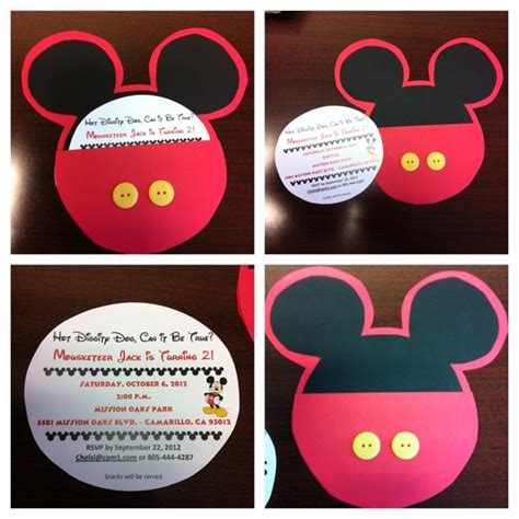 Handmade Mickey Mouse Birthday Invitations - mickey mouse invitations for my s 2nd