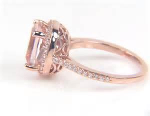morganite engagement ring gold gold morganite rings engagement ring unique engagement ring
