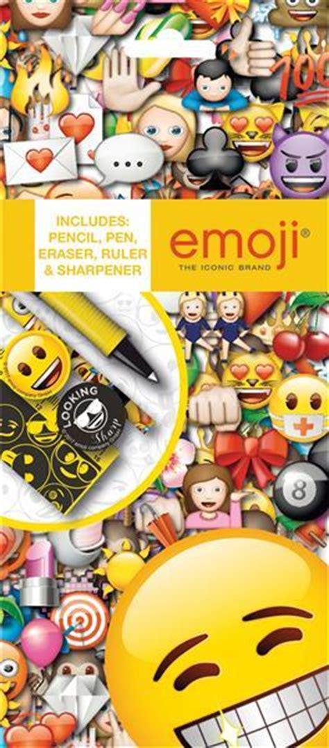 emoji icons stationery set  pencil ruler sharpener