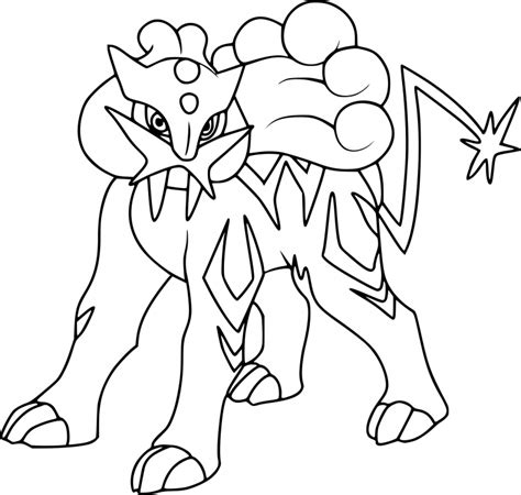 pokemon coloring pages raikou coloriage raikou pokemon 224 imprimer sur coloriages info