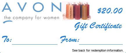 avon gift certificates templates free gift certificates wahm forums wahm