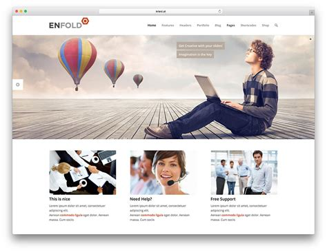 theme enfold home page best wordpress corporate business themes multipurpose