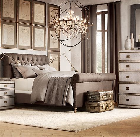 restoration hardware upholstered bed chesterfield upholstered sleigh bed upholstered beds restoration hardware house of smith pinterest stick it upholstered beds and king