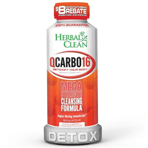 Does Herbal Clean Ultra Help Detox Pot by Buy Herbal Clean Qcarbo Detox Drink With Strawberry Mango