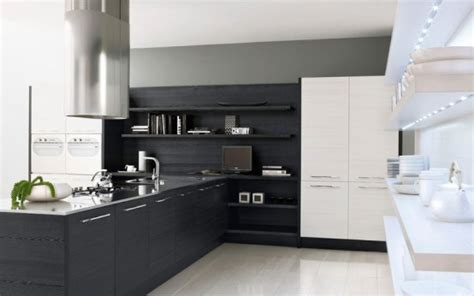 black and white kitchen cabinets contrast design gives a