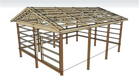 build  pole barn  simple ways