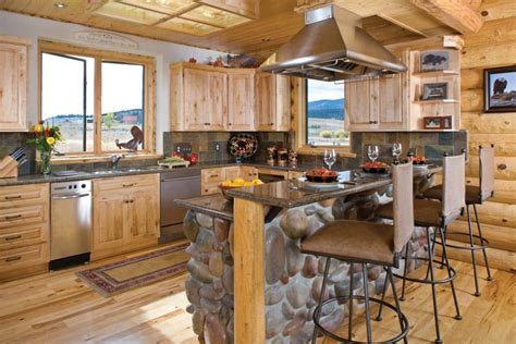 log home kitchen ideas photos timber and log home kitchens and dining rooms