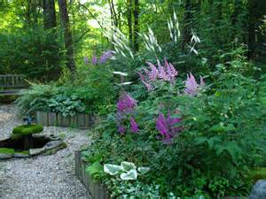 barbara s shady circular garden in new york fine gardening