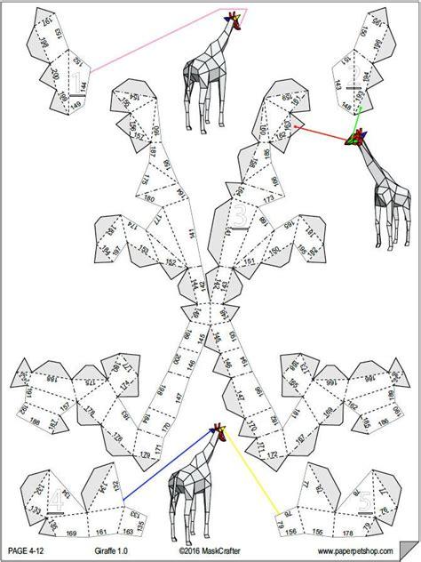 Papercraft Giraffe - giraffe printable papercraft template paper model
