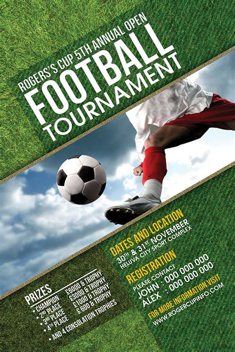 football tournament flyer on behance