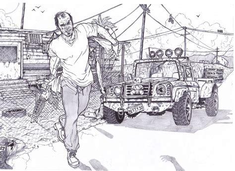 Gta 5 Trevor Philips By Bigdadybear On Deviantart Gta 5 Coloring Pages