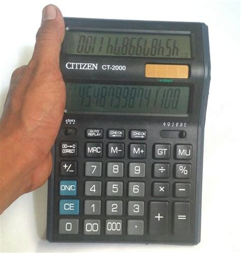 Alat Menghitung Kalkulator Citizen Ct 614c 14 Digit 2 P Diskon jual murah kalkulator kasir dual screen 14 digit citizen jumbo ct 2000 di lapak babavaria