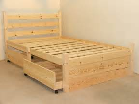 Somerset Bed Frame Somerset 4ft 6 Solid Pine Four Drawer Heavy Duty Bed Frame