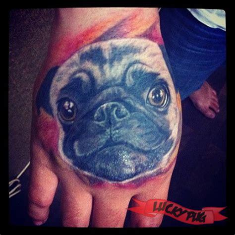 hand pug tattoos photo gallery pug tattoo designs