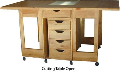Folding Sewing Cutting Table Folding Cutting Table With Ironing Board Open Flickr Photo