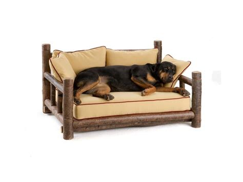 rustic dog bed rustic dog bed by la lune collection log dog beds pinterest