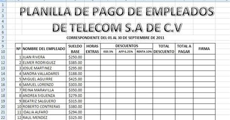 planilla de nomina de pago formato horas extras formulario de autorizaci 243 n para