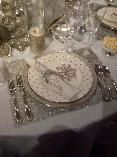 snowflake table top decorations snowflake or years theme receptions