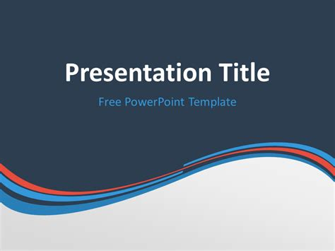 Blue And Orange Powerpoint Template blue orange wave powerpoint template