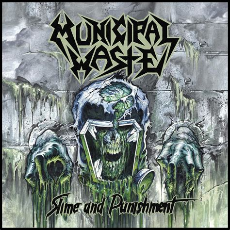 Municipal Waste Button municipal waste slime and nuclear blast