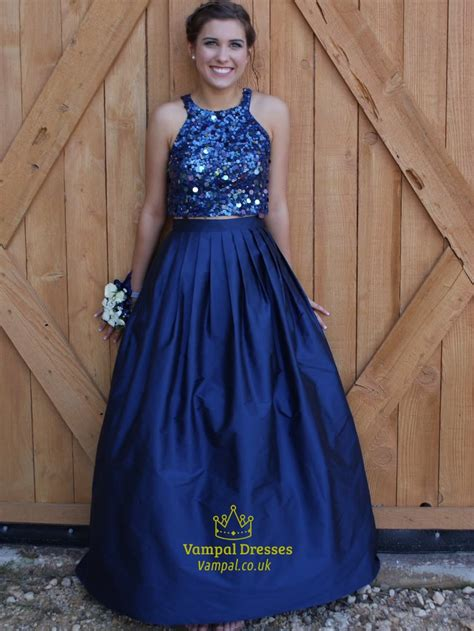 navy blue ball gown prom dress navy blue two piece sequin bodice ball gown prom dresses