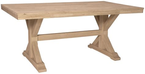 Bedroom Entertainment Centers parawood canyon trestle table natural unfinished furniture