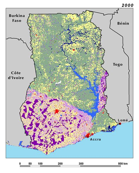 africa map 2000 land use land cover and trends in west africa