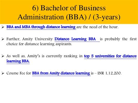 Bba Mba Ib Amity by Amity Distance Learning List Of All Courses