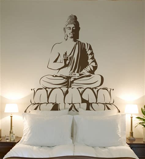 buddhist decor wall art decor buddha wall sticker by wall art decor online spiritual home decor pepperfry