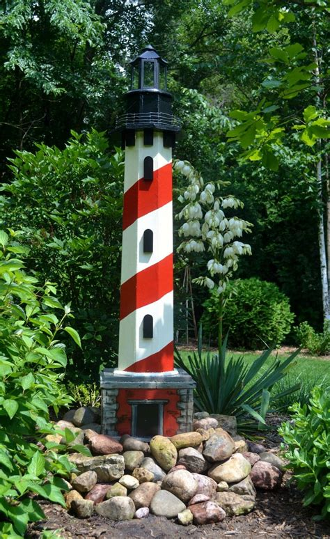 ft tall yard lighthouse   leftover scrap wood