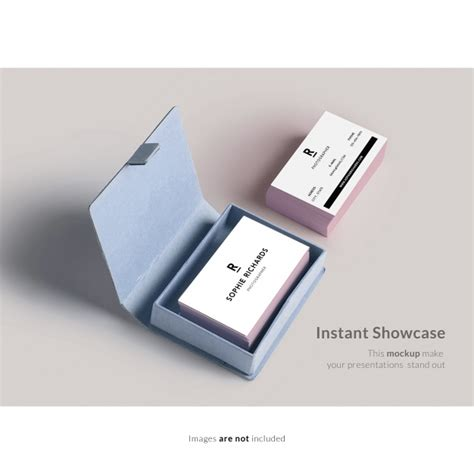 Business Card Box Mockup business card with box mock up psd file free