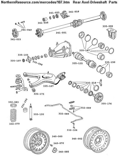mercedes parts diagram mercedes 107 sl slc roadster parts diagrams with part