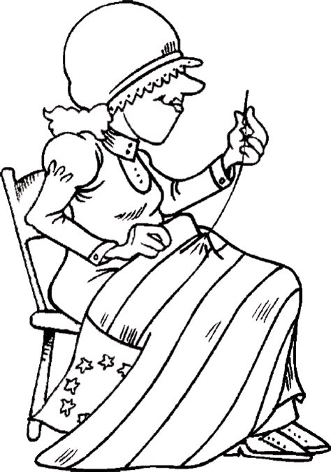 4th of july coloring pages betsy ross american flag