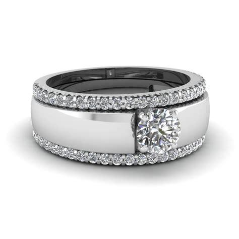 engagement rings bridal trio wedding ring sets