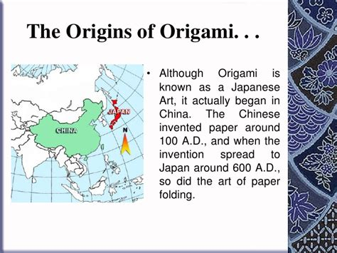 Where Did Origami Originate - the history of origami in japan 28 images origami ppt