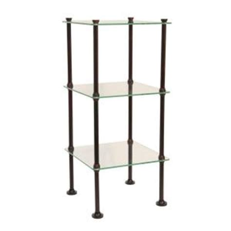 3 Tier Glass Shelf by Moorefield Danforth 3 Tier Glass Shelf In Rubbed