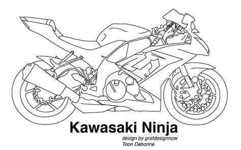 kawasaki ninja coloring pages nvrh vzhledu quot omalovnky quot motorksk frum strnka 2