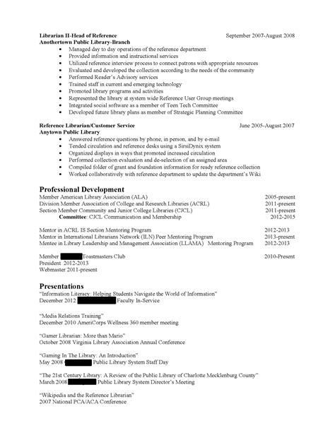 librarian skills for resume resume ideas