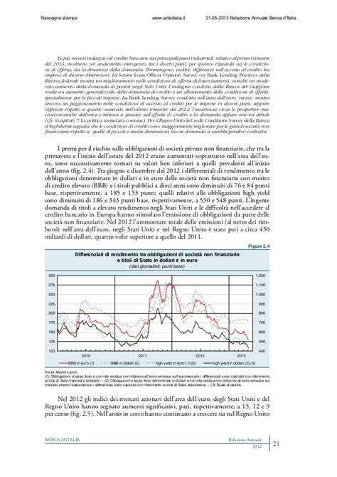 banca d italia relazione annuale relazione annuale sull economia italiana pubblicata da