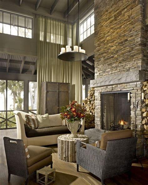 beautiful  story stone fireplace fireplaces http